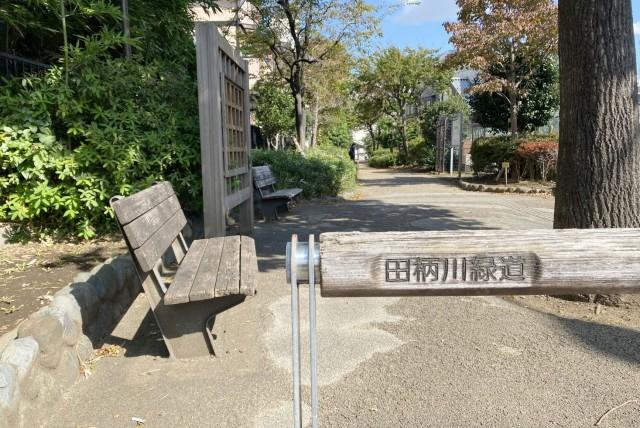 田柄川緑道〈散歩道として子供達が行き交う、全長4.7㎞の遊歩道。〉