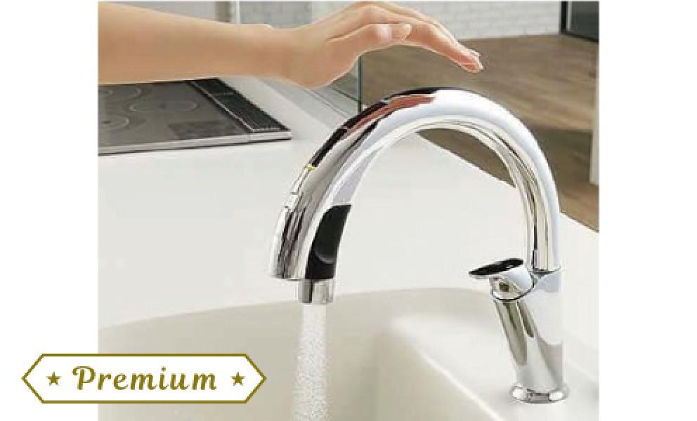 浄水器ビルトイン型 タッチレス水栓
